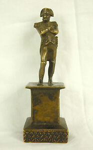 Napoleon I Er Bonaparte Kaiser Auf Sockel Zeit XIX E Skulptur aus Bronze 11cm