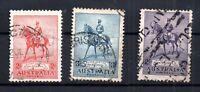 Australia  KGV 1935 Silver Jubilee used set #156-158 WS16418