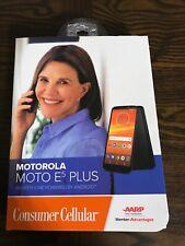 "Consumer Cellular Motorola Moto E5 Plus, 6"" HD+ Display, 12MP Camera, Brand New"