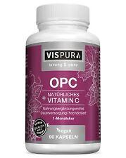 OPC Traubenkernextrakt zertifiziert mit Vitamin C aus Camu-Camu 90 Kapseln