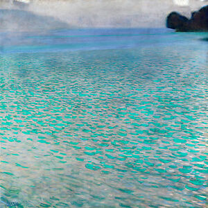 Gustav Klimt, Attersee 1900, Fade Resistant HD Art Print or Canvas