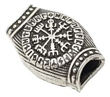 Helm of Awe Vegvisir Runes Asgard Midgard Hair Beard Bead 20 X 14mm Viking Norse