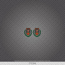 07134 Hetchins Bicycle Head Badge Stickers - Decals - Transfers