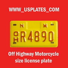 NEW MEXICO MOTORCYCLE SIZE LICENSE PLATE TAG BIKE HARLEY CYCLE OFF ROAD BIKE NM