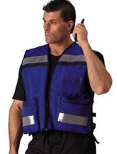 Medic Vest EMT/EMS Paramedic Fire/Rescue Deluxe Hi-Visibility Blue Safety Vest