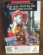 Authentic Disney Epcot Park Four-Season Pass Ticket Advertisement Sign 11x16.5in