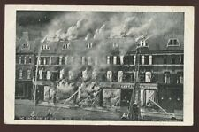 London BRIXTON Great fire PPC 1910 engraving