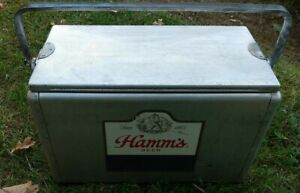 Vintage Hamm's Beer Cooler  Aluminum