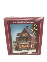 "ST. NICHOLAS SQUARE ""SANTA'S TOY SHOP""  Light up Ceramic 2005 Retired In 2008"