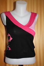 AIRNESS HAUT teeshirt top sport détente noir rose fushia femme 36-34-XS-S