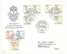 AB23 1951 Stockholm Sweden x 9 Stamps Various Values Samwells-covers