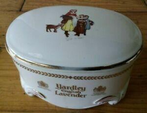 VINTAGE YARDLEY ENGLISH LAVENDER PORCELAIN TRINKET JEWELLRY POWDER BOX..c1950