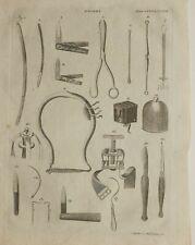 1797 ORIGINAL PRINT SURGERY VARIOUS INSTRUMENTS APPARATUS