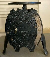 ~Antique 1877~Turnbull's The Novelty Scale~Vintage~Cast Iron - Repaired