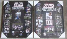 Pair of New York Giants Super Bowl Championship Plaques from Super Bowl 46 & 42