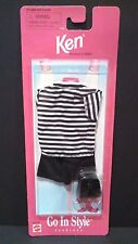 New Barbie Doll Ken Go In Style Fashions Pack 68040-94 Striped Shirt Shorts