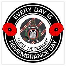KOSB Kings Own Scottish Borderers classic Remembrance day Regimental Sticker