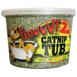 Yeowww Premium Catnip 2oz Tub Organically Grown  In the USA