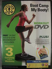 Gold's Gym Boot Camp My Booty! (DVD, 2010) A Full Workout for The Glutes NEW!