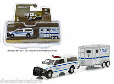 GREENLIGHT 1:64 HITCH & TOW 4 NYPD 2014 Dodge Ram 1500 / Horse Trailer 32040-D