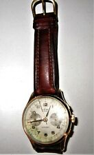 Avia Cronografo automatico in oro rosa 18 K anni 50/60 perfettamente funzionante