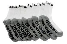Globe Socks 5 Pack Quarter White Grey Crew Size 7-11 Skateboard Sox