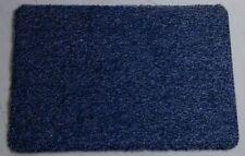 Eingangsmatte 100x60cm blau, waschbar aus Baumwolle, Türmatte mit Gummirücken