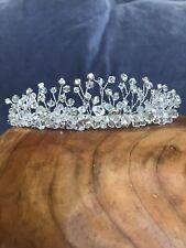 David's Bridal Tiara Silver Swarovski Crystal 179.00