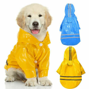 Pet Dog Cat Waterproof Hooded Raincoat Rain Coat Jacket Puppy Clothes Costume US