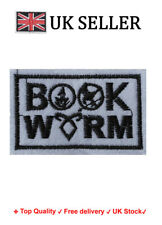 Book worm Iron/Sew On Embroidered Patch Badge Embroidery reader Motif book lover