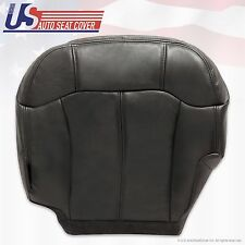 2001 2002 Chevy 1500 HD 2500 HD 3500 Driver Bottom Leather Seat Cover Black