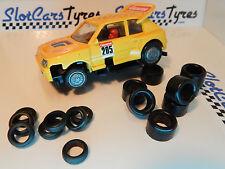 8 + 8 pneus pour  Carrera SERVO 140 années 70-80