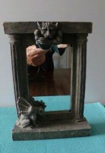 Vintage Vandor Gargoyle Statue Figurine Mirror Picture Frame Gothic Resin