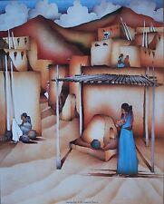 "Amado Pena Mini Prints ""HACIENDO PAN"" 1985 (7560) Signed B4 printed 8x10"