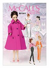 "McCalls SEWING PATTERN M7301 Retro Clothes For 11.5""/30cm Fashion Dolls"
