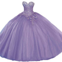 Sweetheart Wedding Quinceanera Dress Beaded Formal Prom Party Pageant Ball Gown