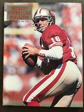 Joe Montana 1990 Beckett Football Card Monthly issue #9 Bobby Humphrey