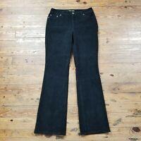 St. Johns Bay Womens Corduroy Pants Black Secretly Slender Bootcut Sz 6 30 x 32