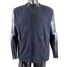 Woolrich Vest Jacket Fleece Black Zipper Pockets Outdoors Hiking Mens Large