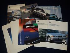 1990S BMW BROCHURE LOT OF 12 - CAR AUTOMOBILE LITERATURE - M3 ROADSTER - LM 119