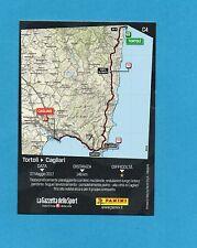 PANINI-100° GIRO D'ITALIA-Figurina/CARD C4- 3^ TAPPA : TORTOLI'-CAGLIARI -NEW