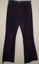Oasis Purple Tie Dye Kick Flare Stretch Flared Hippie Jeans Trouser Size 10 L32