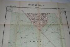 ANCIENNE CARTE MAP TOURIST FRENCH  53 X 68 CM  FORET DE SENART CENTRE 1 / 10.000