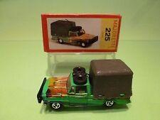 MAJORETTE 225 SAFARI CAR - PICKUP + COVER - GREEN 1:60 RARE - NEAR MINT IN BOX