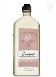 Bath and Body Works COMFORT Vanilla + Patchouli Body Wash~10 fl oz