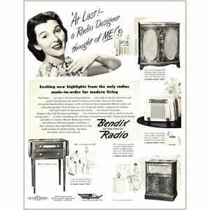 1946 Bendix Radio: At Last a Radio Designer Thought of Me Vintage Print Ad