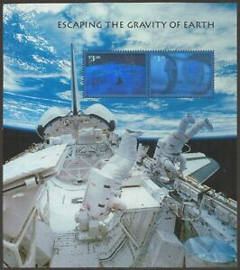 Scott #3411 Mint/NH S/Sheet, Escaping the Gravity of Earth