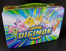 "Digimon Metal Storage Case Tin Lunch Box Original Series 2000 12"" x 8"" x 3.5"""