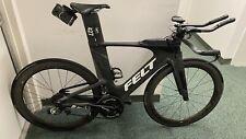 "2019 Felt 1A Carbon Fiber Triathlon Bike w/Zipp Carbon Wheels""This Bike Is Fast"""