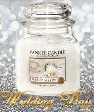 ✿NEW✿ Yankee Candle WEDDING DAY Medium 14.5 Oz Classic Jar ✿ WHITE LABEL ✿